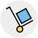 box, cargo cart, cargo trolley, delivery, pushing trolley, shopping trolley icon