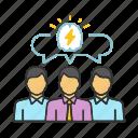 brainstorm, brainstorming, idea, partnership, problem solving, team, teamwork