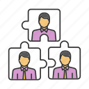 business, match, partnership, puzzle, staff, team, teamwork icon