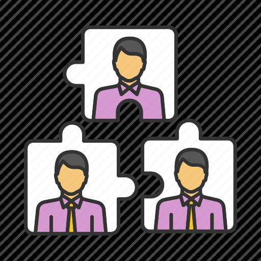 business, match, partnership, puzzle, staff, team, teamwork icon