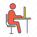 computer, employee, job, office, person, work, workplace icon
