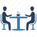 business meeting, conversation, discussion, job interview icon