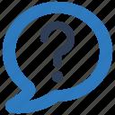 ask, bubble, chat, faq, question icon