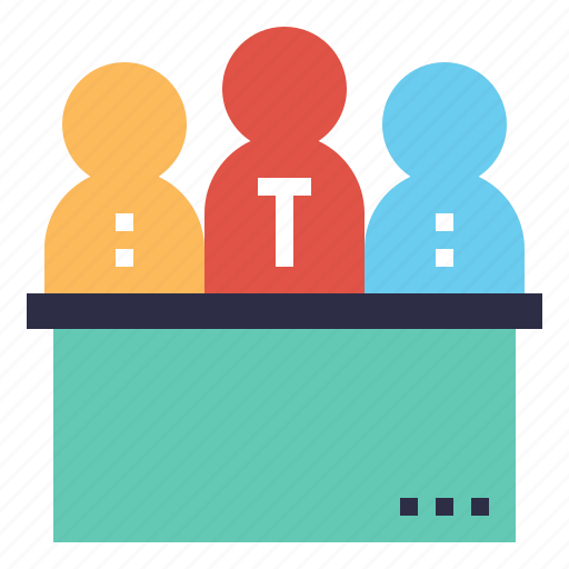 committee, desk, help, people, staff, team icon