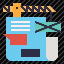 blog, build, content, design, management, web icon