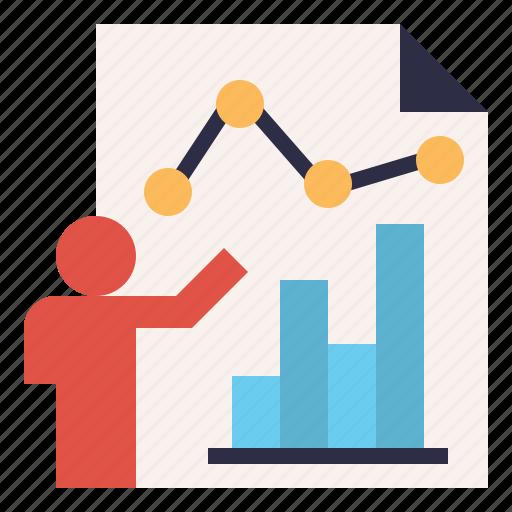 annual, chart, graph, presentation, report, summary icon