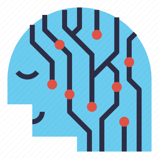 ai, artificial, human, intelligent, person, smart, technology icon
