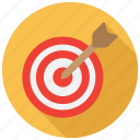 aim, bullseye, dartboard, focus icon