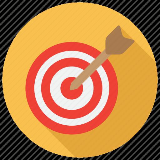 aim, bullseye, dartboard, focus icon