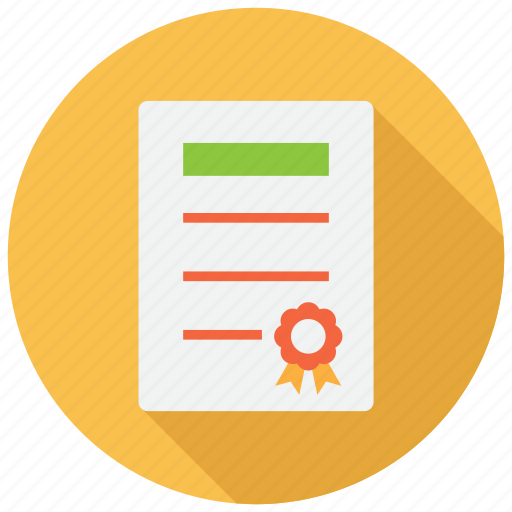 certification, degree, diploma icon