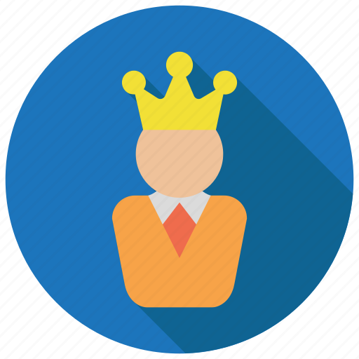 crown, king, leader icon