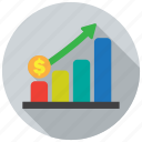 diagram, finance, graph, growth icon