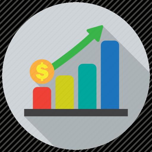 diagram, finance, graph, growth icon