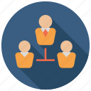 hierarchy, management, organization, structure icon