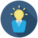 idea, intelligent, lightbulb, smart icon