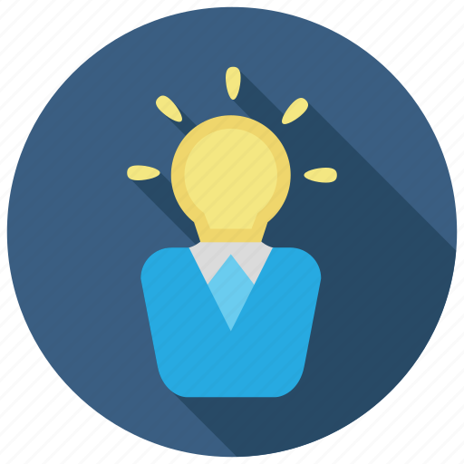 idea, intelligent, lightbulb, smart icon
