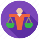 balance, judge, justice, lawyer icon
