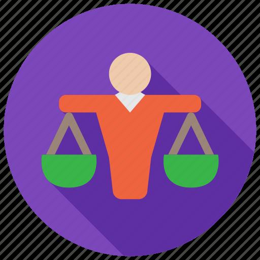 balance, judge, justice, lawyer icon