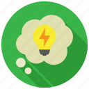 bulb, creative, idea, light icon