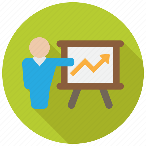 conference, meeting, presentation, report icon