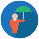 business, protection, protector, umbrella icon