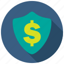 finance, financial, secure, shield icon