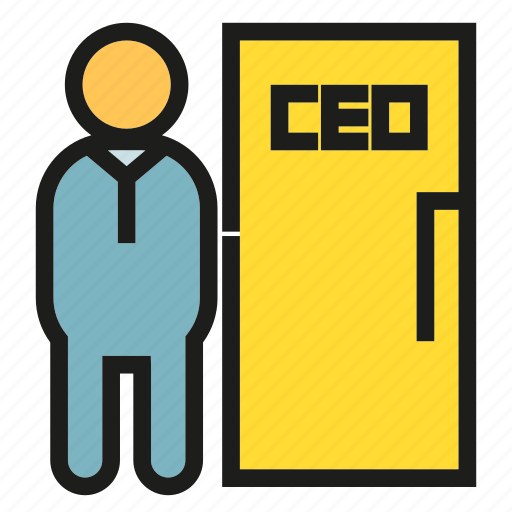 boss, business, ceo, door, executive, office, officer icon