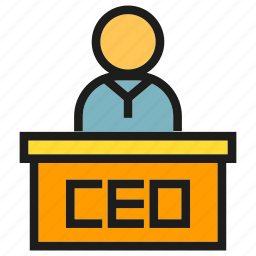 boss, ceo, chief, executive, leader, officer icon