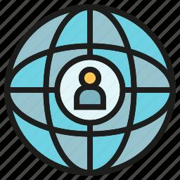 global, globe, international, network, people, world icon