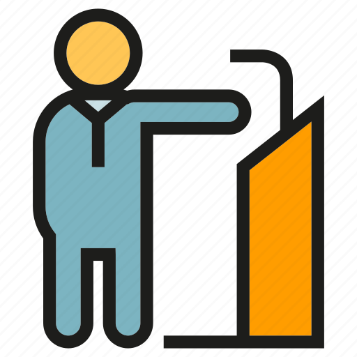 Business, business meeting, leader, meeting, podium, speaker icon - Download on Iconfinder