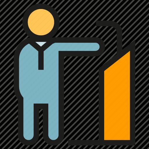 business, business meeting, leader, meeting, podium, speaker icon