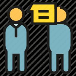 meeting, people, talking, worker icon