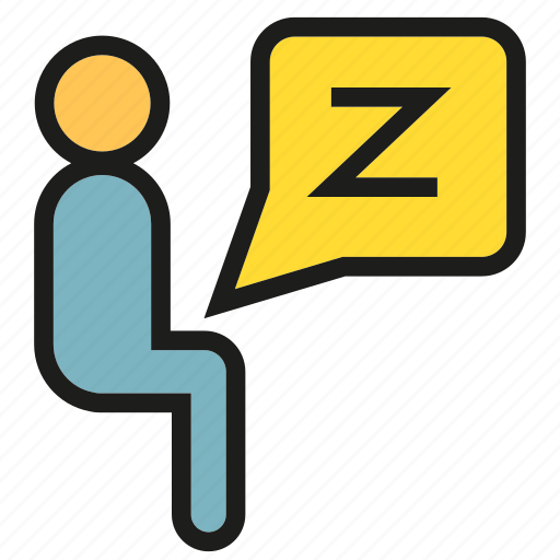 lazy, office, people, sitting, sleep, worker icon