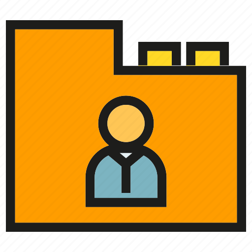 archive, file, folder, office, people, profile, resume icon