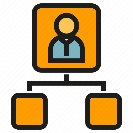 diagram, leader, office, organization chart, people icon