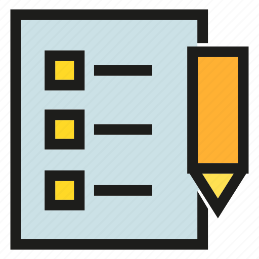 document, list, paper, pen, writing icon