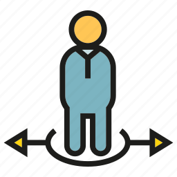 decision making, direction, people, way icon