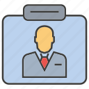 business, business card, card, employee, officer, profile, worker icon