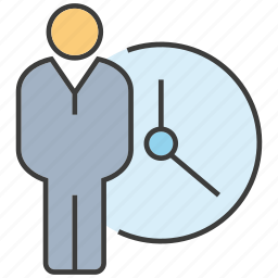 clock, man, people, time, time management icon