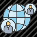 communicate, global, globe, network, people, world