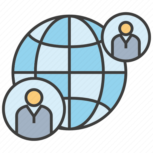 communicate, global, globe, network, people, world icon