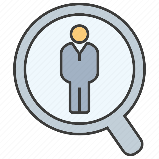 human resource, job, magnifier glass, people, recruiting, recruitment, search icon