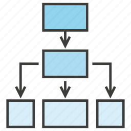 chart, diagram, flow chart, plan, process, step, strategy icon