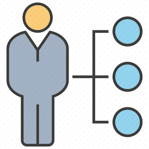 business, chart, diagram, man, organization chart, people icon