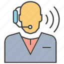 call center, chat, communicate, customer service, operator, support, talk icon