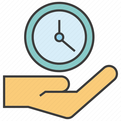 clock, hand, hold, time, time management icon
