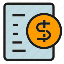 agreement, contract, document, file, money, paper icon