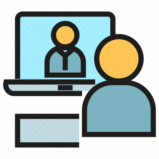 chat, communication, online conference, online meeting, people, talking icon