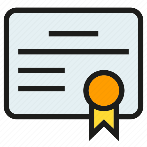 certificate, credentials, diploma, document, guaranty, testimonial icon