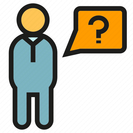 ask, people, problem icon